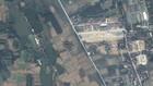 Vị trí dự án sân bay Miếu Môn qua hình ảnh vệ tinh. Ảnh: Google Maps