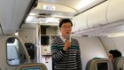 Air Seoul President & CEO Ryu Kwang-hee announces the budget carrier's plans to expand routes and increase its fleet in a press conference held onboard a A321-200 jet,