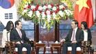 Chủ tịch nước Trần Đại Quang tiếp Chủ tịch Quốc hội Hàn Quốc Chung Sye-kyun đang có chuyến thăm chính thức Việt Nam. Ảnh: TTXVN