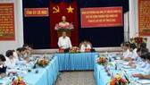 Phó thủ tướng Thường trực Chính phủ Trương Hòa Bình làm việc với lãnh đạo chủ chốt tỉnh Cà Mau