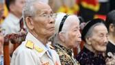 Các Mẹ Việt Nam Anh hùng và Cựu chiến binh tiêu biểu tại cuộc gặp mặt