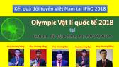 Học sinh Việt Nam dự thi Vật lý quốc tế 2018
