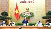 Thủ tướng Nguyễn Xuân Phúc chủ trì họp Chính phủ thường kỳ tháng 10. Ảnh: VGP