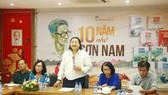 """Ông Nguyễn Minh Nhựt, Giám đốc NXB Trẻ chia sẻ tại chương trình """"10 năm nhớ Sơn Nam""""."""