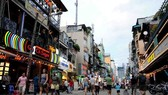 Tourists visiting Bui Vien walking street, District 1, HCM City. (Source: english.vietnamnet.vn)