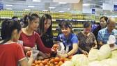 Các sản phẩm của Đà Lạt bày bán phục vụ người dân TPHCM và các tỉnh tại siêu thị Co.opmart