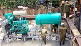 Vận hành máy bơm chống ngập đường Nguyễn Hữu Cảnh