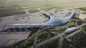 圖為隆城國際機場總體設計模擬空照圖。(圖源:互聯網)