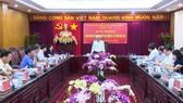 中央肅貪指委會副主任汪周琉在會議上發表講話。(圖源:互聯網)