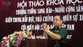 國防部副部長黎瞻在研討會上致開幕詞。(圖源:VOV)