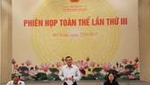 國會對外委員會主任阮文饒(中)在會議上發表講話。(圖源:艷瓊)
