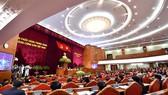 黨十二屆六中全會第五天工作議程現場。(圖源:互聯網)