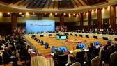 圖為第十三屆亞歐合作論壇外交部長會議(ASEM 13)現場一隅。(圖源:越通社)
