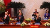 黨政領導出席共青團全國代表大會開幕式。(圖源:越勇)
