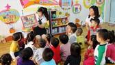 幼兒園師生互動一瞥。(示意圖源:互聯網)