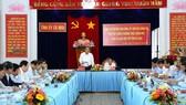 政府常務副總理張和平在會議上發表講話。