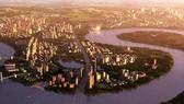 本市加快東區房地產發展。圖為本市第二郡空照一隅。