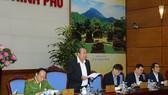 張和平副總理在會議上發表指導意見。(圖源:黎山)