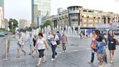圖為第一郡阮惠步行街一瞥。(圖源:白楊)