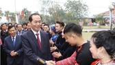 國家主席陳大光出席各項文化活動,並向越南各民族群體賀年。(圖源:越通社)