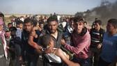 加沙邊境之前的示威,導致最少16名巴人死亡,1400多人受傷。(圖源:AP)