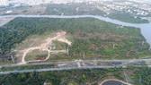 轉讓予嘉萊國強股份公司的地塊空照一瞥。(圖源:黎軍)