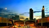 從本月30日晚上8時至5月1日凌晨4時將禁止兩輪車往返武文傑大道、西貢河隧道、梅志壽大道,即第一郡記功街通往第二郡守添橋引路的路段。圖為西貢河隧道第二郡彼岸出入口一瞥。(示意圖源:互聯網)