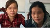 被抓獲的兩名販賣婦女之嫌犯吳氏雲(左)和吳氏女。(圖源:紅雪)