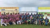 本市台灣商會會長鄭文忠(前排左六)與新加坡死神隊和胡志明市龍捲風隊合照。