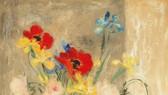 黎譜畫家的作品《靜物花》。