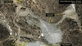 """這是美國的朝鮮專題網站""""38North""""2018年3月底提供的朝鮮豐溪里核試驗場衛星圖。 (圖源:韓聯社/AP)"""