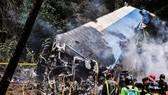 古巴墜機事故,一黑匣子被找到。圖為救援人員在古巴哈瓦那墜機事故現場工作。(圖源:新華網)