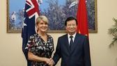 政府副總理鄭廷勇接見了澳大利亞聯邦外長畢曉普。(圖源:春線)