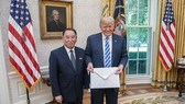 特朗普接受金英哲特大邀請信。(圖源:互聯網)