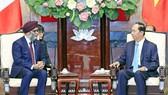 國家主席陳大光接見哈吉特部長。(圖源:顏創)