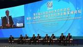 圖為第十屆泛北部灣經濟合作論壇暨第二屆中國-中南半島經濟走廊發展論壇一瞥。(圖源:VOV)