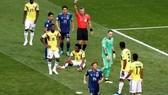 哥倫比亞球員被罰紅牌。(圖源:互聯網)