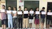 被捕獲的9名搶劫嫌犯。(圖源:志石)
