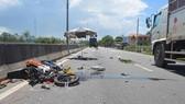 因防曬裙而造成交通事故的現場。