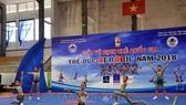 全國青年健美操錦標賽比賽瞬間。