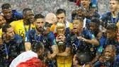 奪得2018年俄羅斯世足盃冠軍的法國隊。