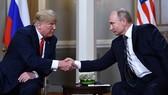 當地時間7月16日,美國總統特朗普與俄羅斯總統普京在芬蘭赫爾辛基舉行會晤。(圖源:AFP/Getty Images)