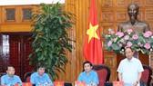 政府總理阮春福主持會議。(圖源:統一)