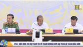 政府常務副總理張和平(中)主持會議。(圖源:HANOITV視頻截圖)