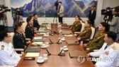 韓朝雙方率團出席第九次韓朝將軍級會談。(圖源:韓聯社)