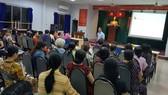市社會勞動大學社會學系副主任范清海主持座談會並發表專題演講。(圖源:珠黎)