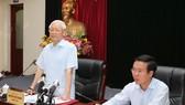 阮富仲總書記與中央宣教部舉行會議。