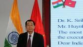 越印友好協會主席黃成立在招待會上發言。(圖源:越通社)