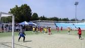 旅韓越南大學生運動會的足球比賽。