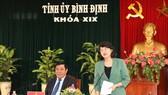 國家副主席鄧氏玉盛在會議上發表講話。(圖源:范柯)